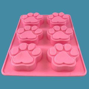 Moule en silicone rose pour 6 mini-gâteaux ou autres créations