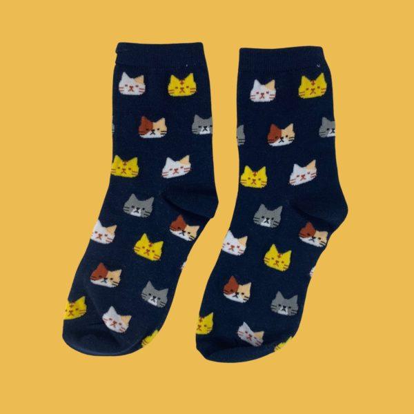 Chaussettes têtes de chats